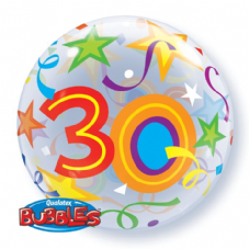 30th Brilliant Stars Bubble Balloon